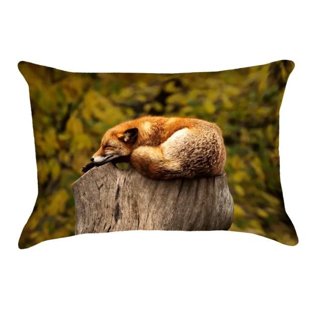 Sleeping Fox 100% Cotton Pillow Cover
