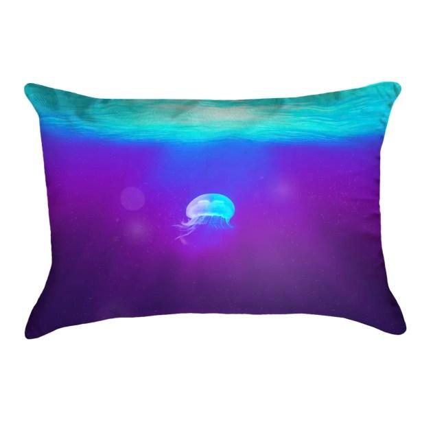 Jellyfish Indoor/Outdoor Lumbar Pillow