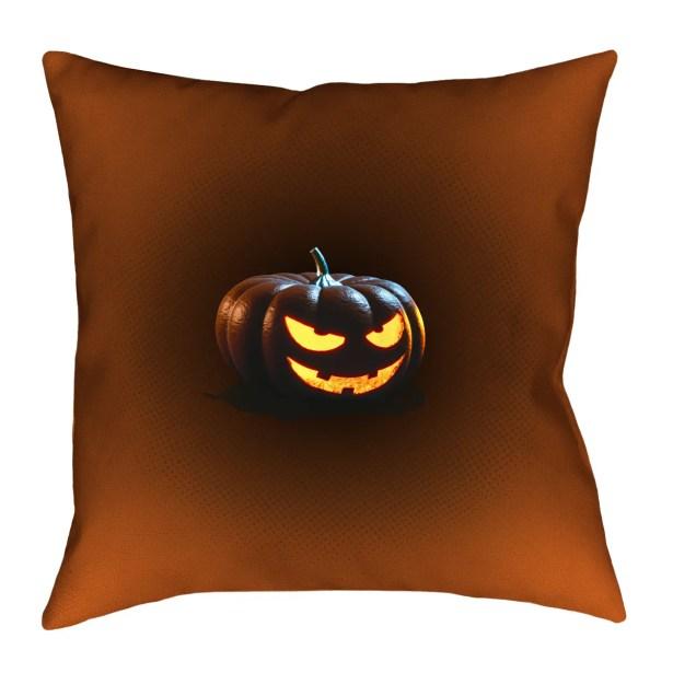 Jack-o-Lantern Square Indoor Throw Pillow Size: 14