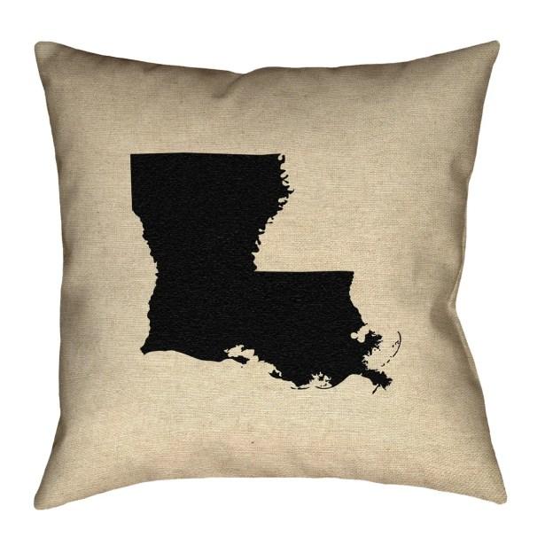 Austrinus Louisiana Square Outdoor Throw Pillow Size: 20