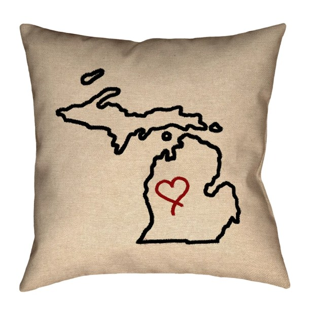 Austrinus Michigan Cotton Pillow Cover Size: 26