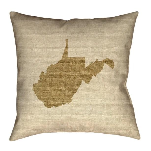 Sherilyn West Virginia Floor Pillow Size: 28