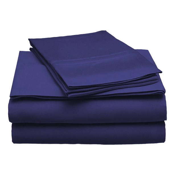 300 Thread Count Modal Solid Sheet Set Color: Navy Blue, Size: King
