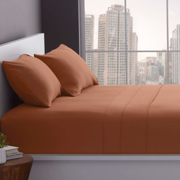 1200 Thread Count Cotton Blend Sheet Set Color: Taupe, Size: King