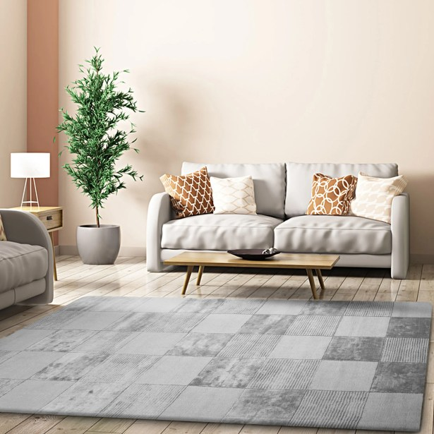 Gulliver Checkered Hand-Woven Gray Area Rug