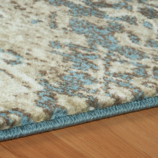 Ramona Beige/Blue Area Rug Rug Size: Rectangle 5' x 8'
