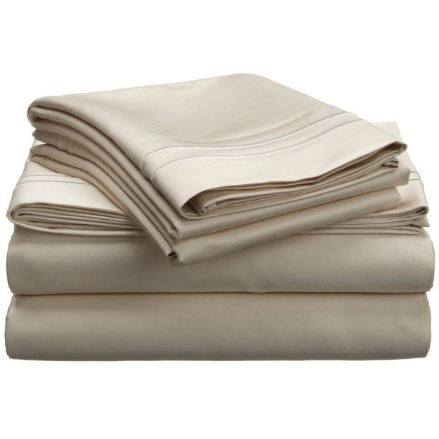 1600 Thread Count Cotton Sheet Set Size: California King, Color: Ivory