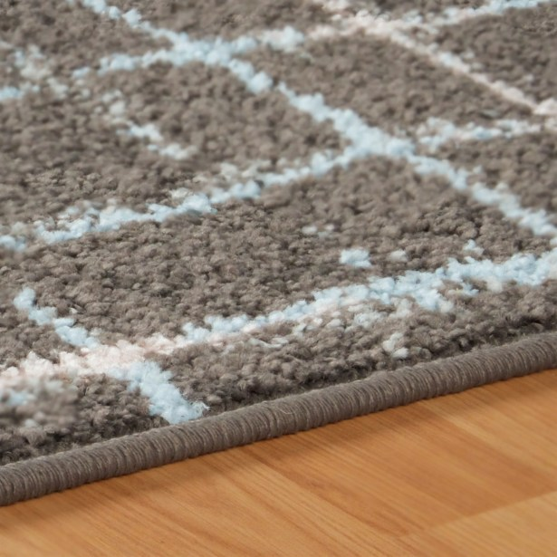 Calista Painted Stripes Gray Area Rug Rug Size: Rectangle 8' x 10'