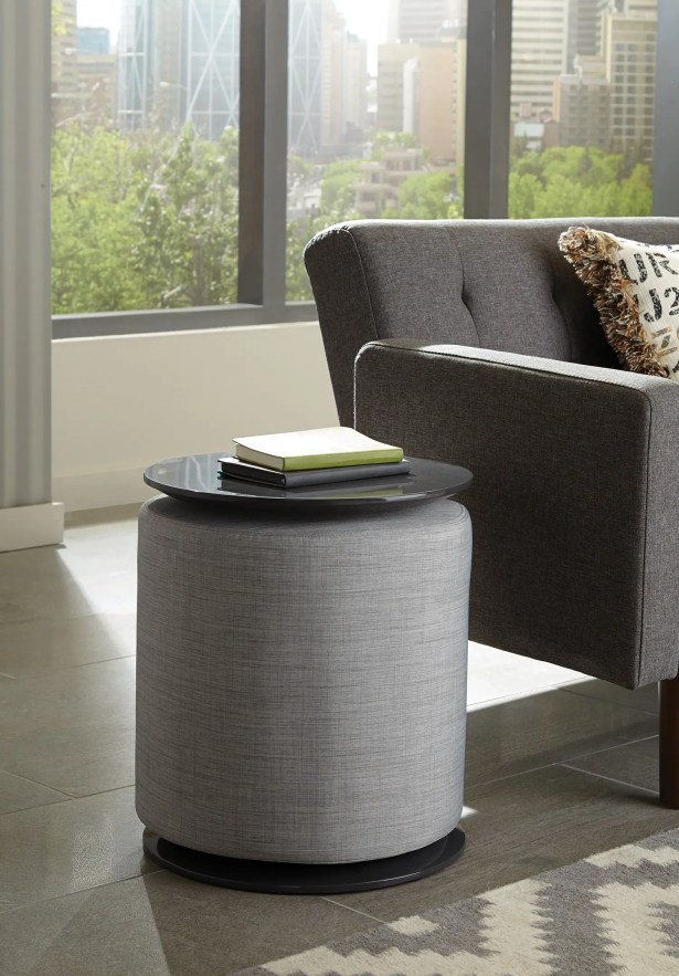 End Table Table Base Color: Gray