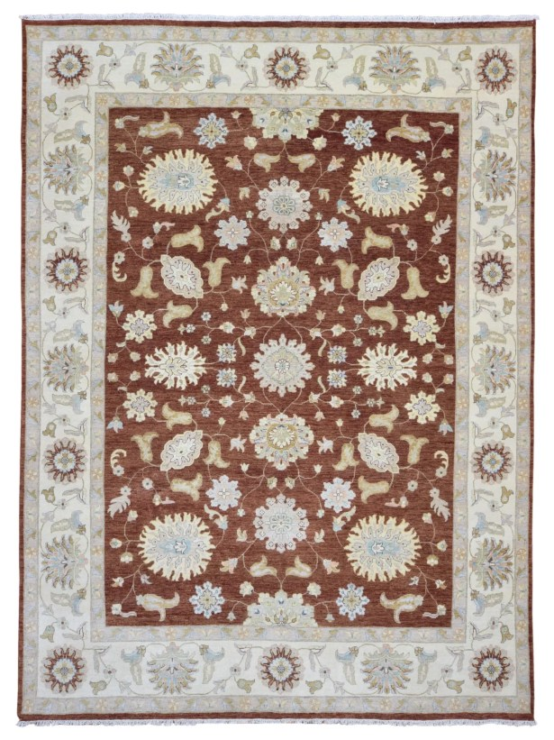 Ardith Traditional Hand Woven Wool Brown/Beige Area Rug