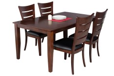 Dining Table Sets Haan Modern 5 Piece Solid Wood Dining Set