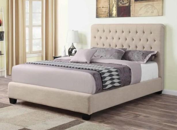 Shepley Panel Bed Color: Oatmeal, Size: California King