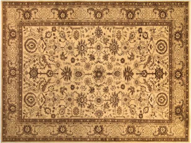 Xenos Hand-Knotted Rectangle Wool Tan Area Rug