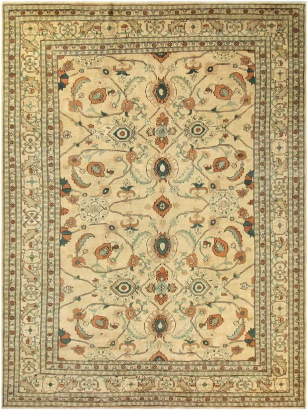 Xenos Hand-Knotted Wool Tan Area Rug