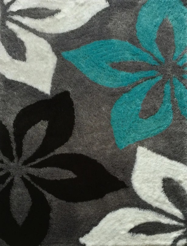 Crumpler Hand Woven Gray/Turquoise Area Rug