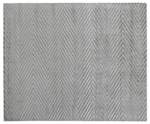 Kingsley Hand-Woven Gray Area Rug Rug Size: Rectangle 10' x 14'