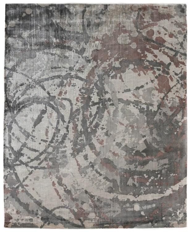 Koda Hand-Woven Gray/Brown Area Rug Rug Size: Rectangle 9' x 12'