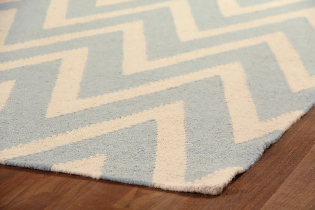 Hand-Woven Wool Cream/Turquoise Area Rug Rug Size: Rectangle 8' x 11'