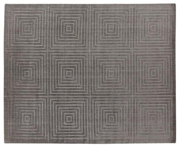 Robin Hand-Loomed Wool/Silk Dark Gray Area Rug Rug Size: Rectangle 14' x 18'