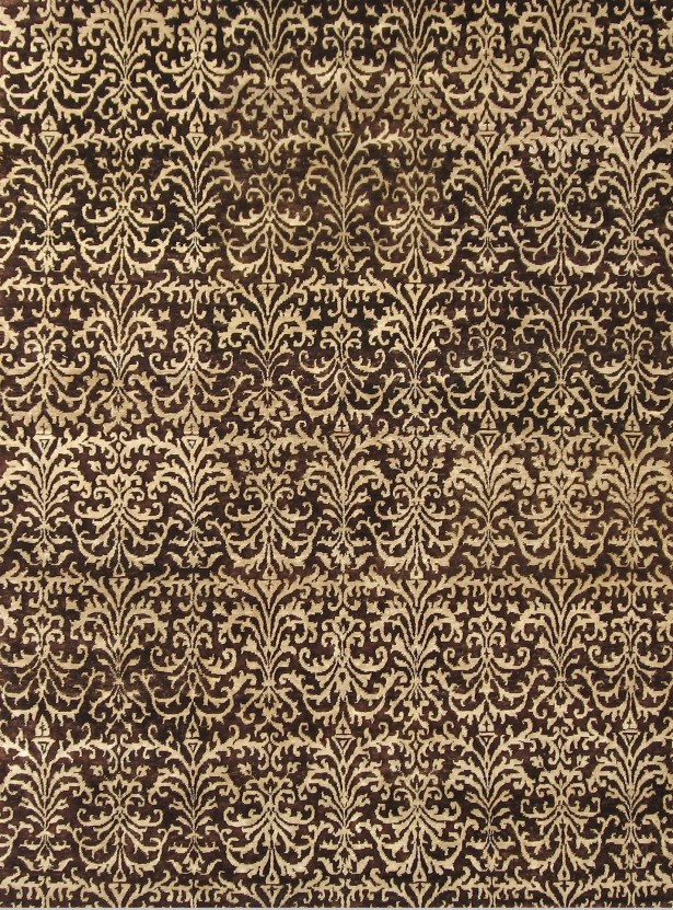 Metropolitan Hand Knotted Wool Brown/Ivory Area Rug