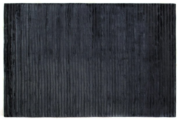 High Low Wave Hand-Woven Navy Area Rug Rug Size: 8' x 10'