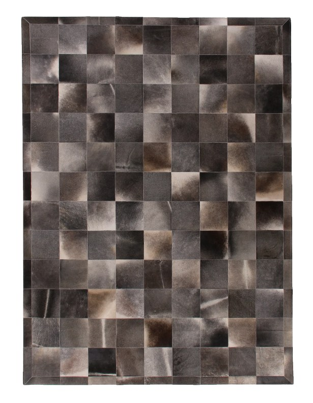 Natural Hide Hand-Woven Gray Area Rug Rug Size: 8' x 11'