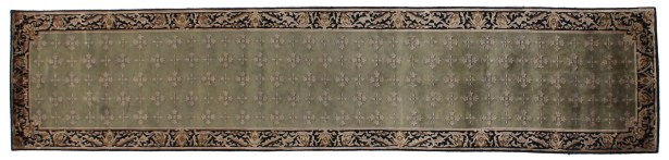 Tibetan Weave Hand-Knotted Green/Black Area Rug