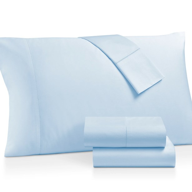 Gerrard Egyptian Quality 300 Thread Count 100% Cotton 4 Piece Sheet Set Size: Queen, Color: Ceil Blue