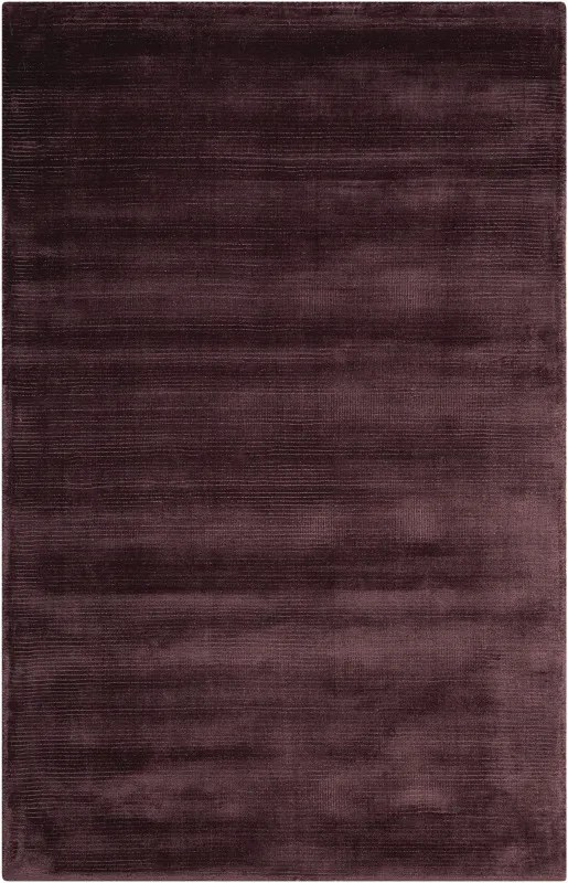 Lunar Hand-Woven Luminescent Rib Amethyst Area Rug Rug Size: Rectangle 3'6