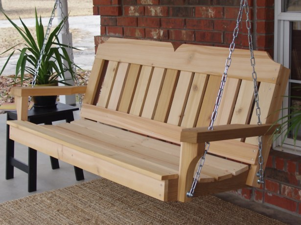 Galusha Cedar Porch Swing Finish: Stained/Stainless Steel, Size: 24