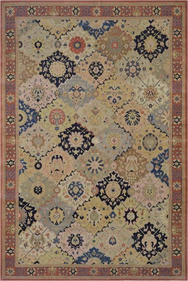 One-of-a-Kind Antique Tabriz Handwoven Wool Light Green Indoor Area Rug