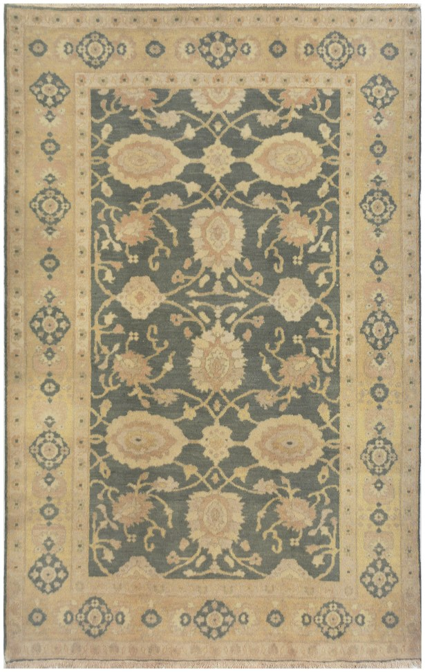 One-of-a-Kind Sultanabad Hand-Knotted Wool Beige Indoor Area Rug