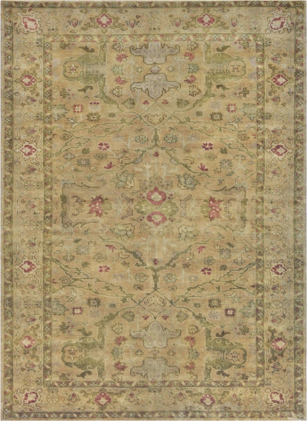 One-of-a-Kind Fine Handwoven Wool Beige Indoor Area Rug