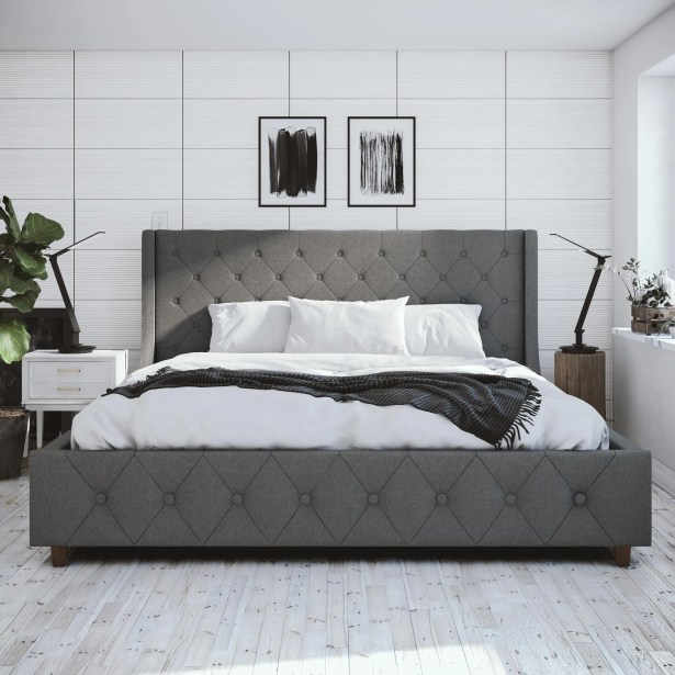 Mercer Upholstered Platform Bed Size: King