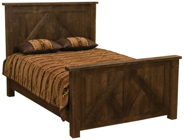Frontier Pine Headboard Size: King, Color: Midnight