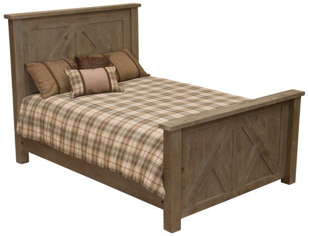 Frontier Panel Bed Color: Driftwood, Size: Single