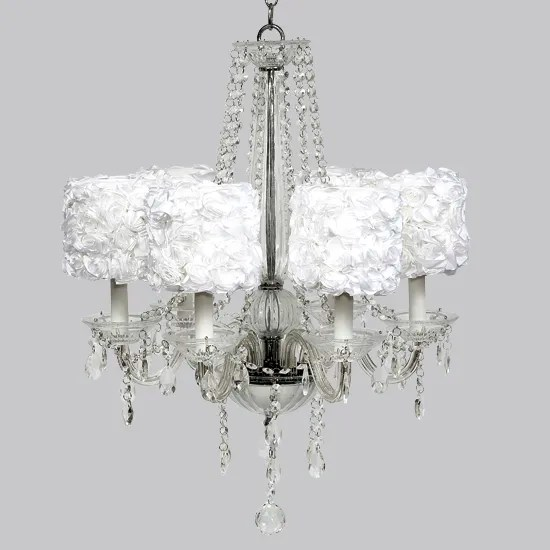 Middleton 6-Light Shaded Chandelier Shade Color: White