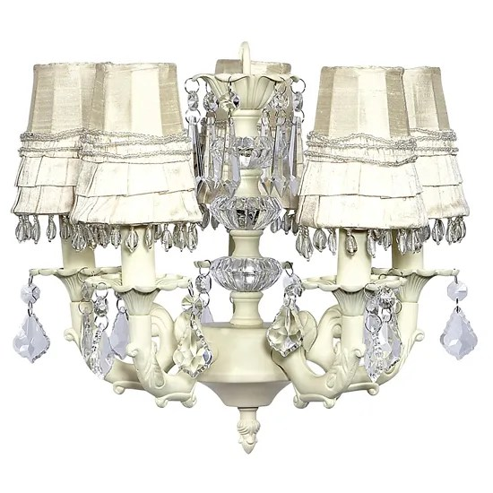 Stacked Ball 3-Light Shaded Chandelier Shade Color: Ivory