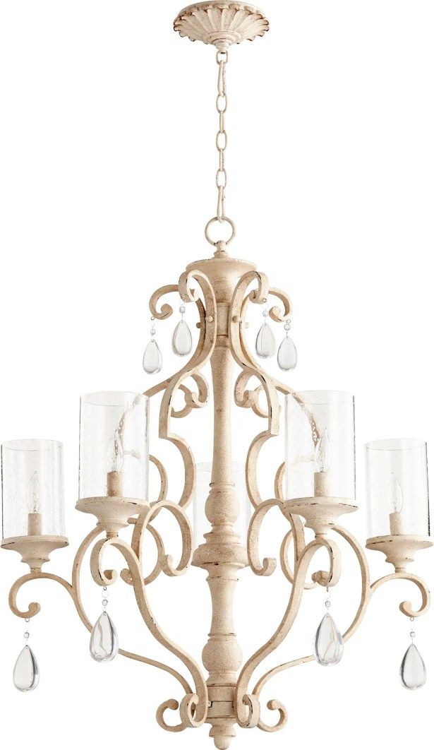 Miley 5-Light Shaded Chandelier Finish: Persian White