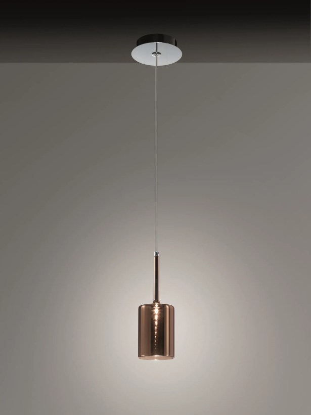 Spillray 1-Light Cylinder Pendant Shade Color: Crystal