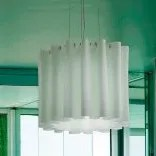 Skirt 1-Light Semi Flush Mount Shade Color: White, Size: Large