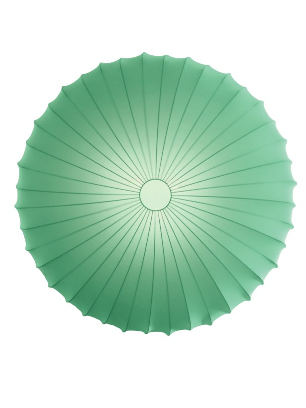 Muse 3-Light Flush Mount Size: Extra Large, Color: Green, Bulb Type: Fluorescent/Incandescent