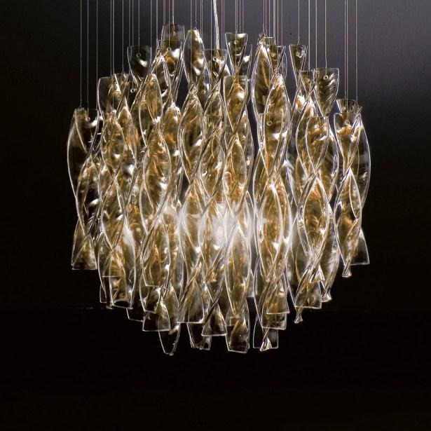 Avir 1-Light Crystal Pendant Color/Color/Size: Polished Steel/Tea/Large
