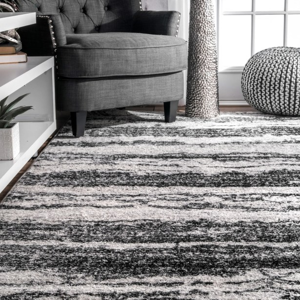 Stamant Black Area Rug Rug Size: Rectangle 5' x 8'