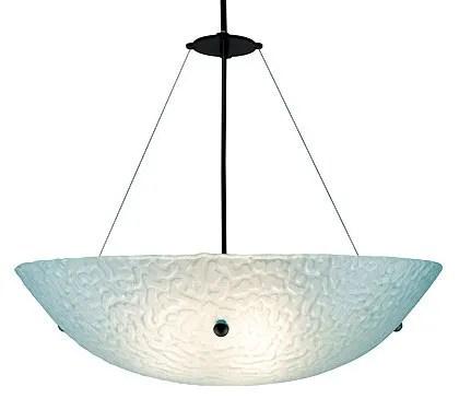 3-Light Bowl Pendant Glass Color: Phantom Amber, Drop: 43