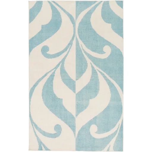 Paradox Hand-Knotted Blue/Neutral Area Rug Rug Size: Rectangle 5' x 7'6
