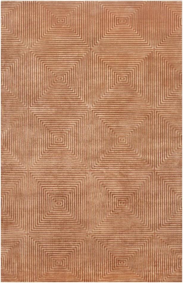 Luminous Rust Orange Area Rug Rug Size: Rectangle 2' x 3'