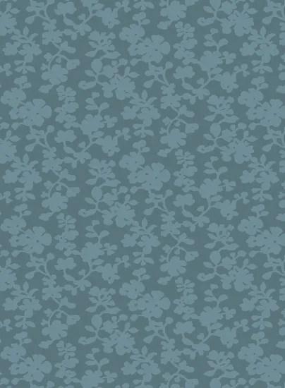 Luminous Sea Blue Floral Area Rug Rug Size: Rectangle 5' x 8'