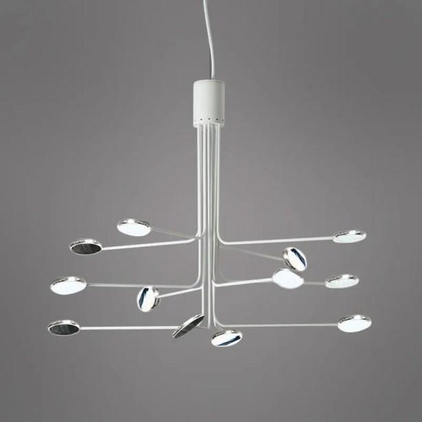 Arbor 12-Light  LED  Chandelier Finish: White/Aluminum