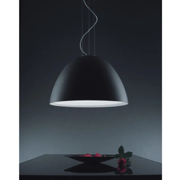 Willy 1-Light Inverted Pendant Shade Color: Black